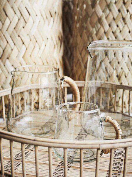 Illustration Cruche verre et bambou